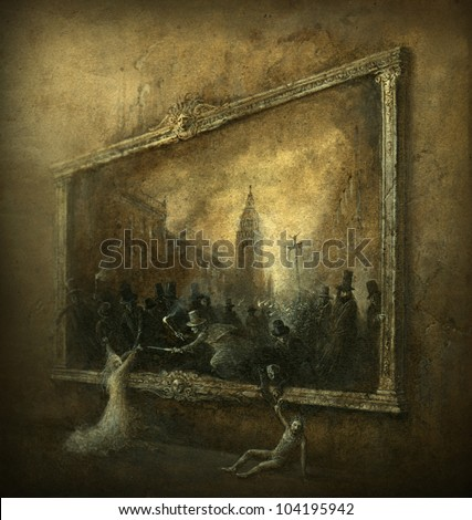 Surreal scene - stock photo