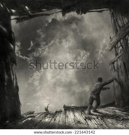 Surreal Scene - stock photo