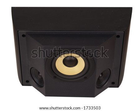 Surround sound speaker isolated on a white background