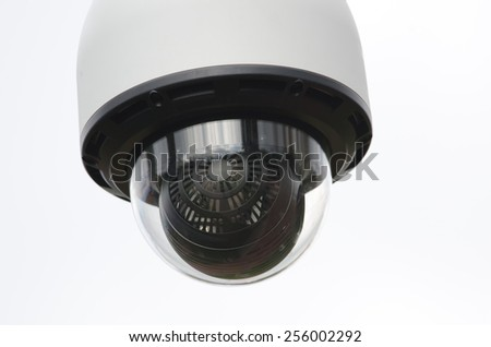 surveillance camera - stock photo