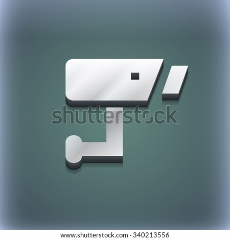Surveillance Camera icon symbol. 3D style. Trendy, modern design with space for your text illustration. Raster version - stock photo