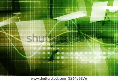 Surveillance Technology and Digital Tracking of Sensitive Data - stock photo