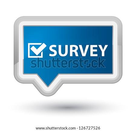 Survey icon - stock photo