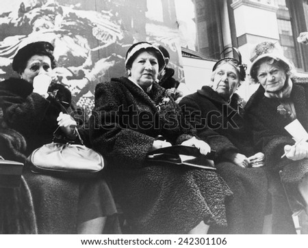 Survivors of the Triangle Shirtwaist Company fire at a commemoration ceremony organized by New York City and the International Ladies' Garment Workers' Union on the 50th anniversary of the fire, 1961