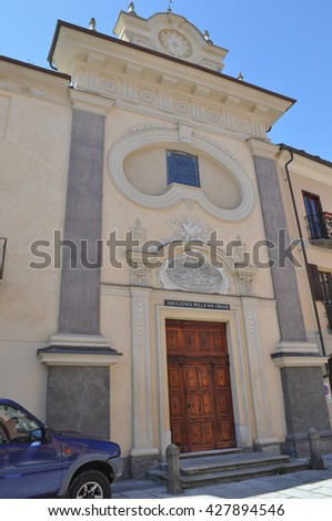 SUSA, ITALY - CIRCA MAY 2016: San Carlo (meaning St Charles) church