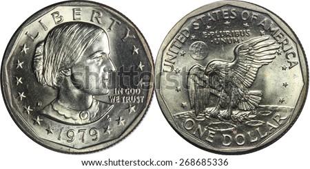 Susan B Anthony Dollar - stock photo
