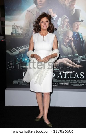 """Susan Sarandon at the """"Cloud Atlas"""" Los Angeles Premiere, Chinese Theater, Hollywood, CA 10-24-12 - stock photo"""