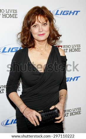 Susan Sarandon at the Los Angeles premiere of 'Jeff, Who Lives At Home' held at the DGA Theatre in Los Angeles on March 7, 2012.   - stock photo