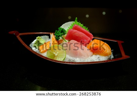 Sushi and Sashimi, Japanese food  - stock photo
