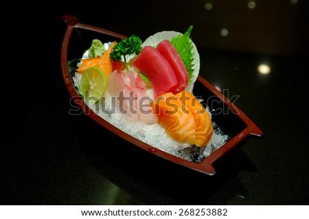 Sushi and Sashimi, Japanese food  - stock photo