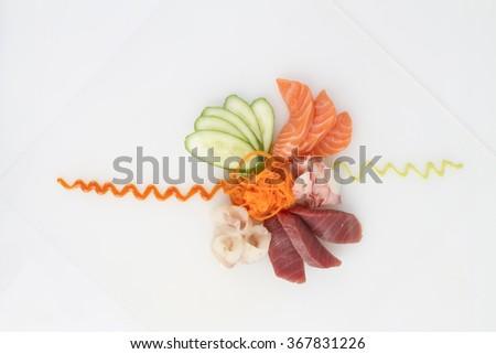 sushi bar - stock photo
