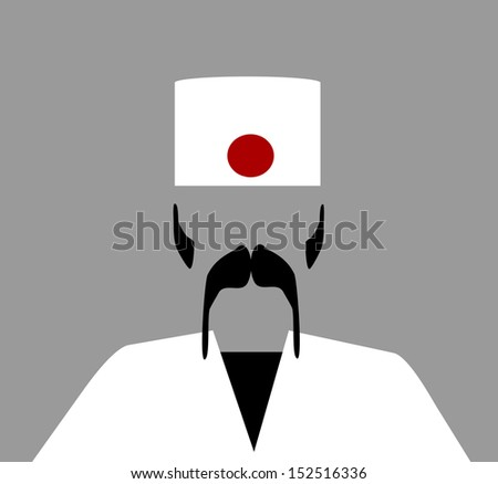 sushi chef with large mustache