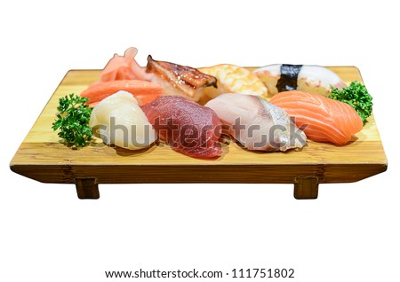 sushi,japanese food - stock photo