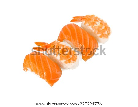 Sushi on a light background