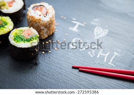 Sushi roll - stock photo