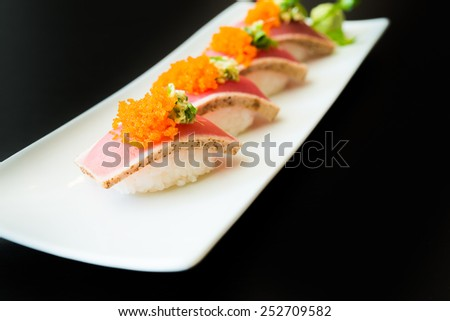 Sushi roll healthy food - japanese food style