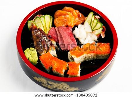 sushi set - stock photo