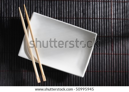 Sushi setting. - stock photo