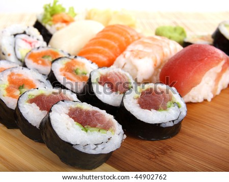 Sushi, traditional japanese food - stock photo