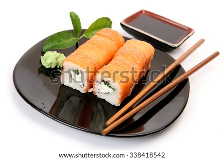 Rolls rice fish stock photo 436402747 shutterstock for Where to buy fish for sushi