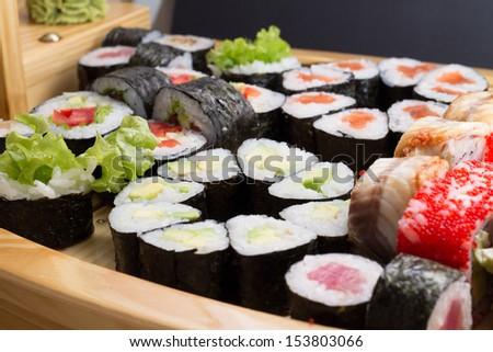 Sushimade dish - stock photo