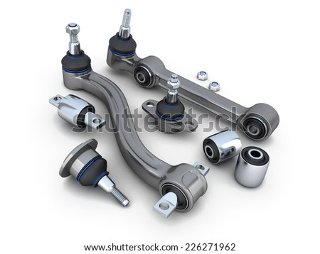 Suspension arm and ball joint car (done in 3d)  - stock photo