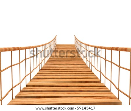 suspension bridge - stock photo