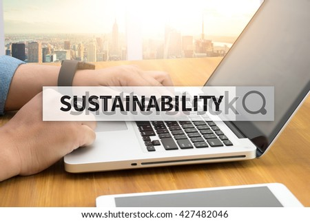 SUSTAINABILITY SEARCH WEBSITE INTERNET SEARCHING - stock photo