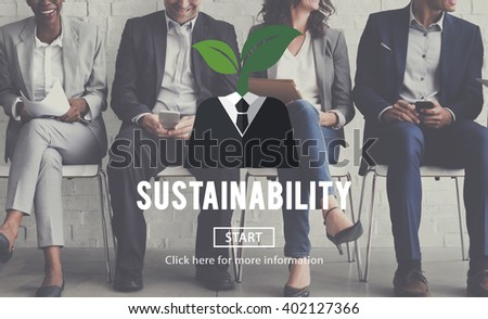 Sustainability Think Green Ecology Environment Concept - stock photo