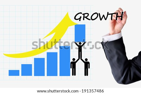 Sustainable growth of sales or business - stock photo