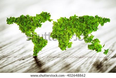 Sustainable world - 3d illustration  - stock photo