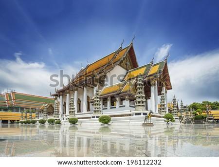 suthat temple bangkok thailand - stock photo