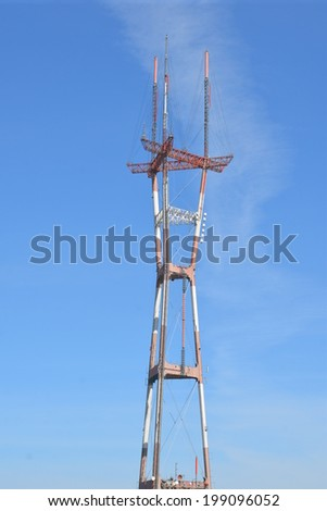 Sutro Tower in San Francisco - stock photo