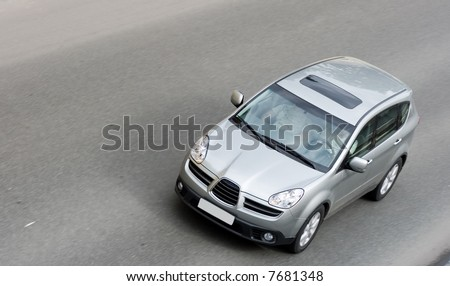 "suv car on road of my ""cars"" series - stock photo"