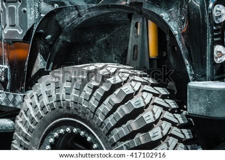 SUV car tire - stock photo