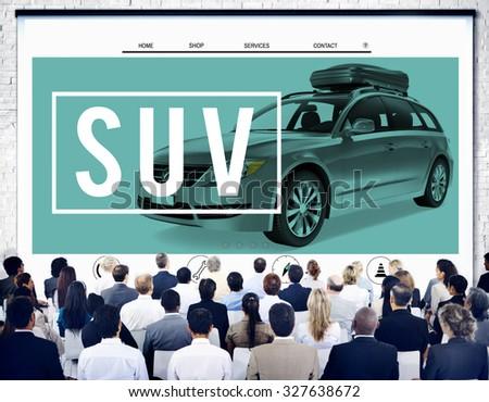 Suv Car Transportation Vehicle Generic Energy Concept - stock photo