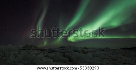 Svalbard Northern Lights - stock photo