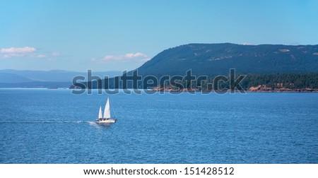 Swanson Channel, Gulf Islands Chain, British Columbia, Canada - stock photo