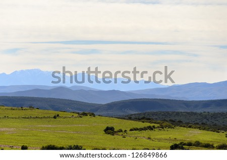 Swartberg (Meaning Black Mountain) close to Oudtshoorn - stock photo