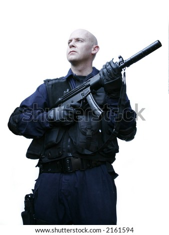 swat tactical officer - stock photo