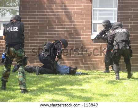SWAT training, making the apprehension