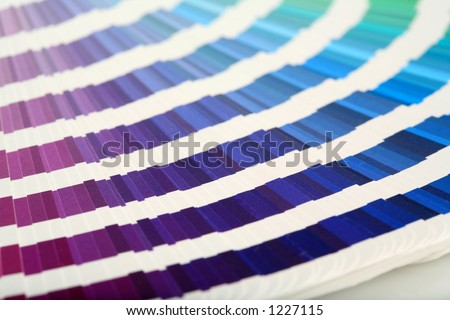 Swatch Book  PURPLE->GREEN - stock photo