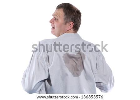 Sweaty Businessman - stock photo