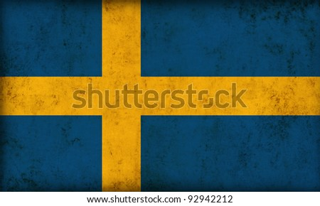 Sweden flag background - stock photo