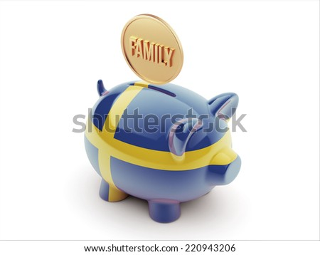 Sweden High Resolution Family Concept High Resolution Piggy Concept