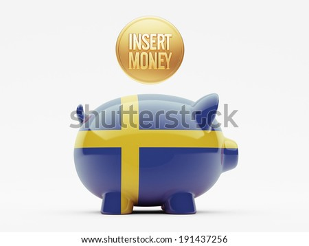 Sweden High Resolution Insert Money Concept - stock photo