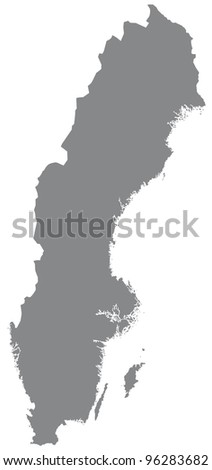 Sweden in grey