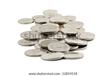 Swedish coins isolated on white background - stock photo