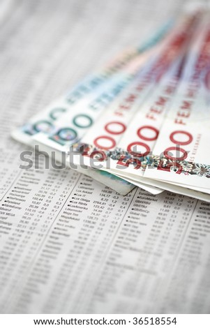 Swedish economy - stock photo
