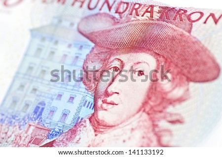 Swedish five hundred bill - stock photo